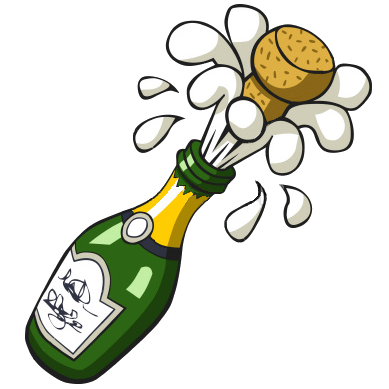 389x389 Ist Popping Champagne Bottle Free Images