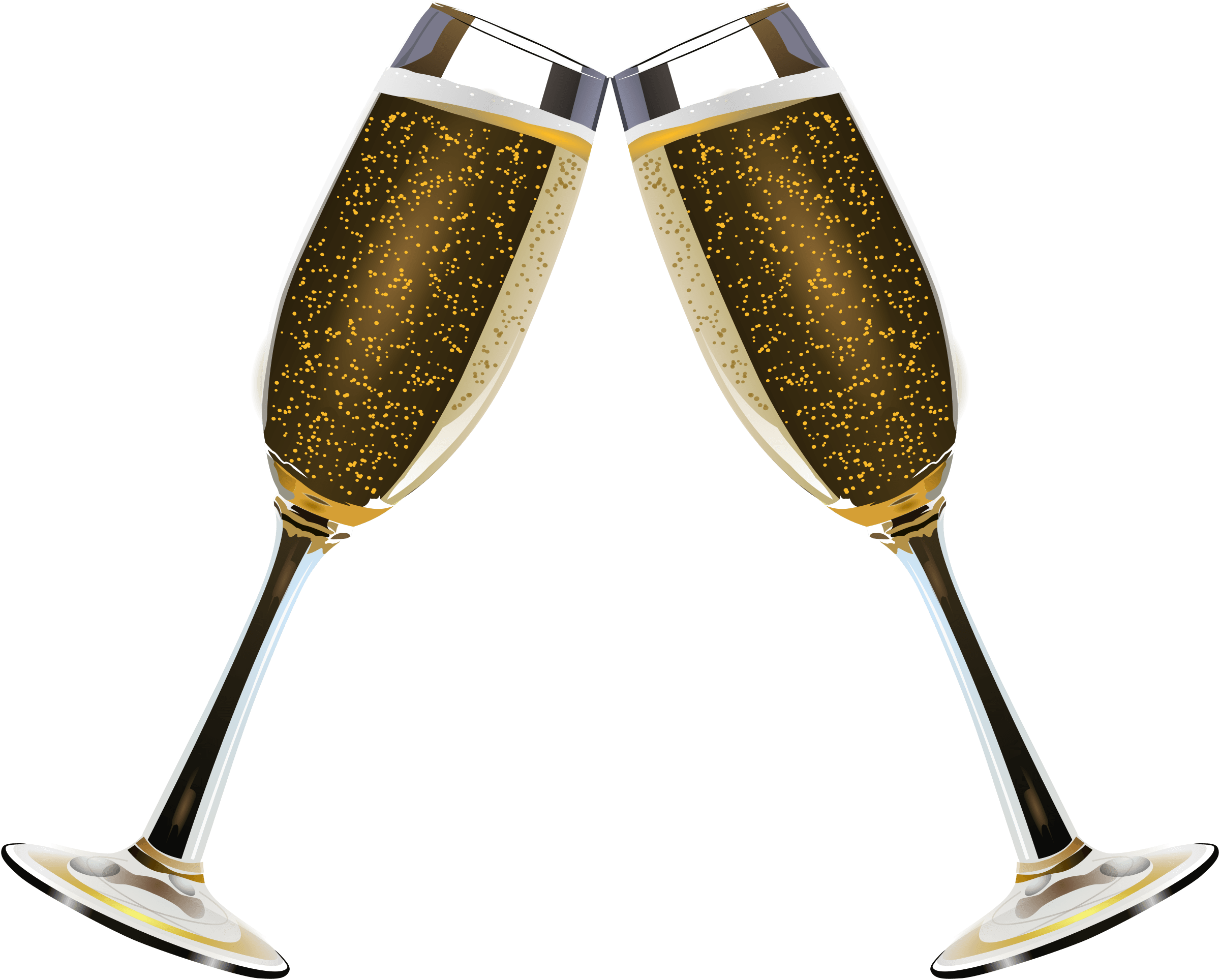 2400x1928 Champagne Duo Of Glasses Transparent Png