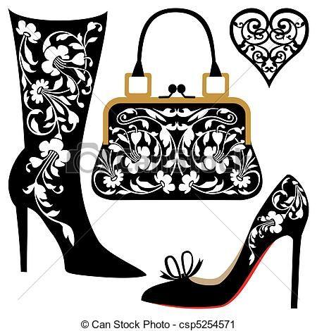 450x470 95 Best Handbag Illustrations Images 1950s