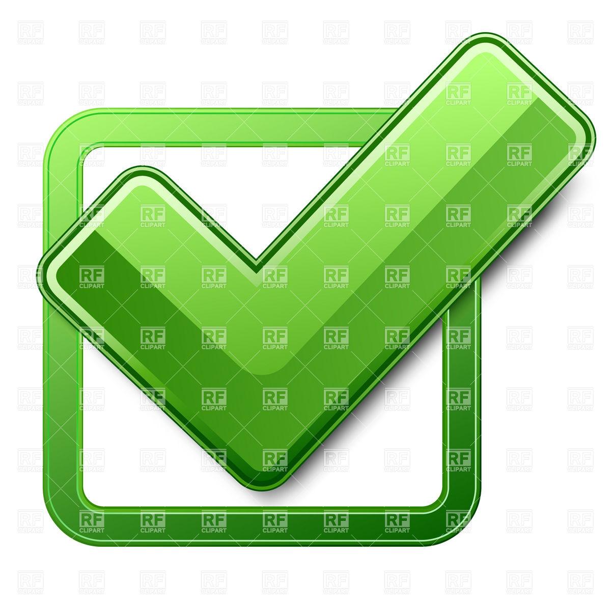 1200x1200 Green Check Box With Check Mark Royalty Free Vector Clip Art Image