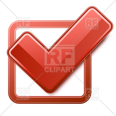 400x400 Red Check Box With Check Mark Royalty Free Vector Clip Art Image