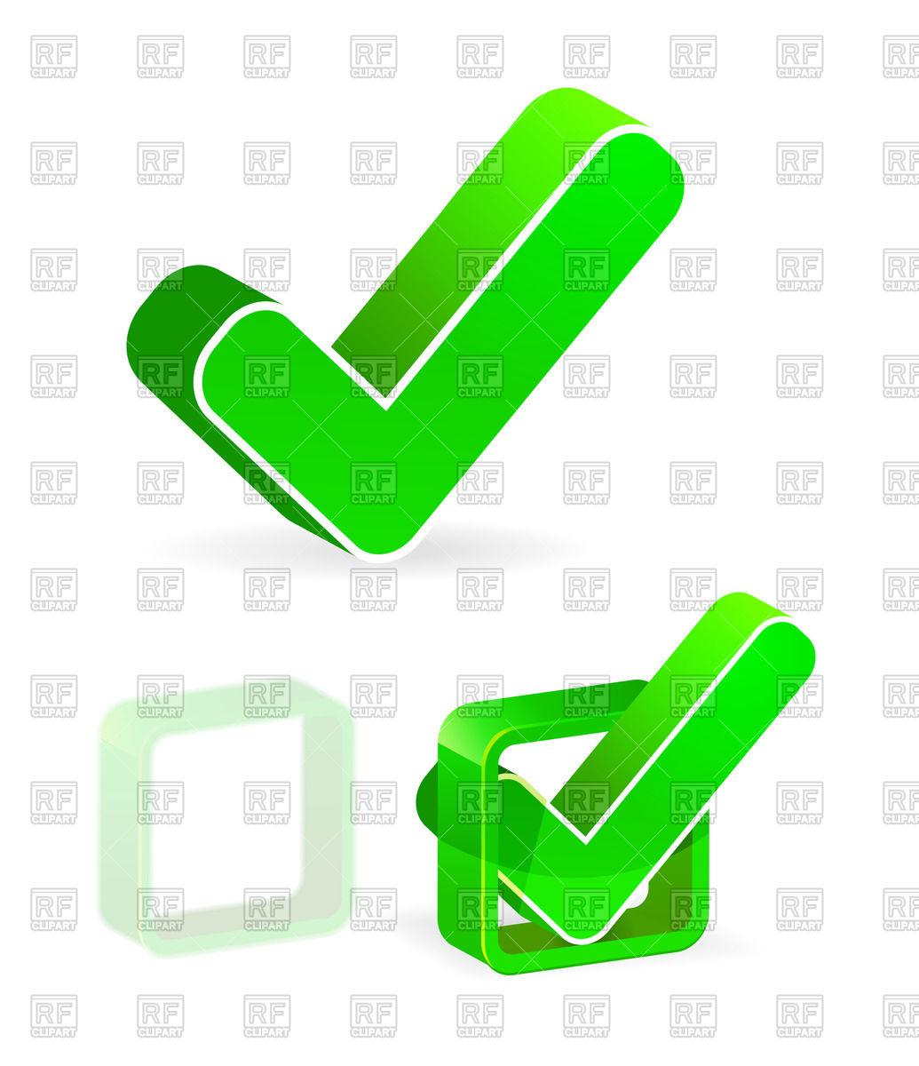 1035x1200 Green Check Box With Check Mark Royalty Free Vector Clip Art Image