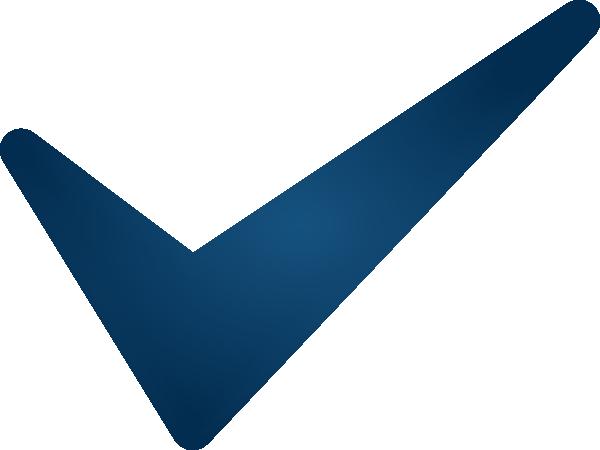 600x450 Blue Check Mark Clip Art