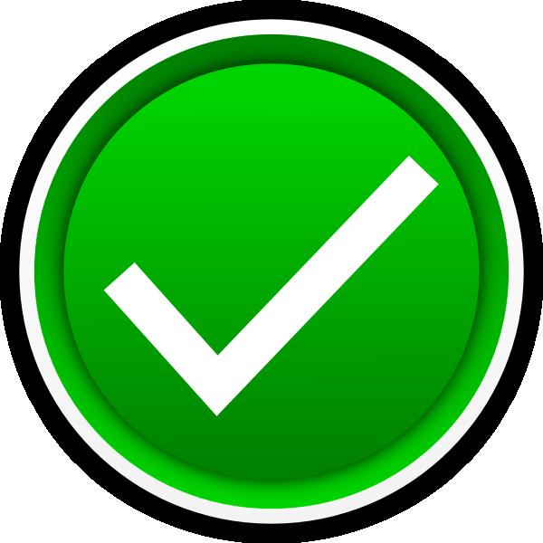 600x600 Green Check Mark Clip Art