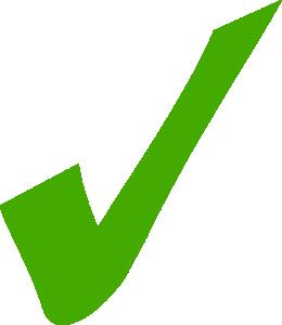 260x300 Green Tick Clip Art Download