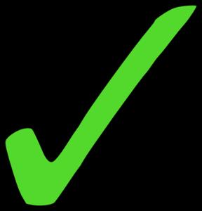 288x300 Bright Green Tick Clip Art