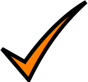 300x279 Orange Tick Clip Art