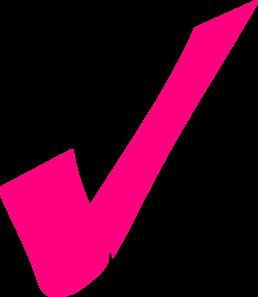 258x297 Pink Clipart Tick