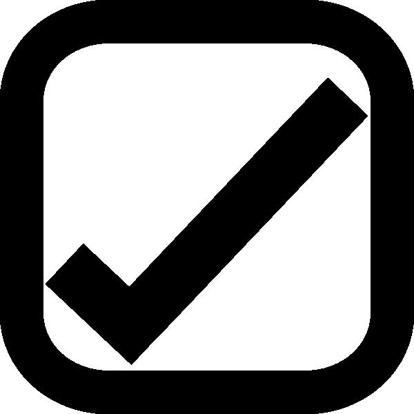 600x600 Tick Check Box Clip Art