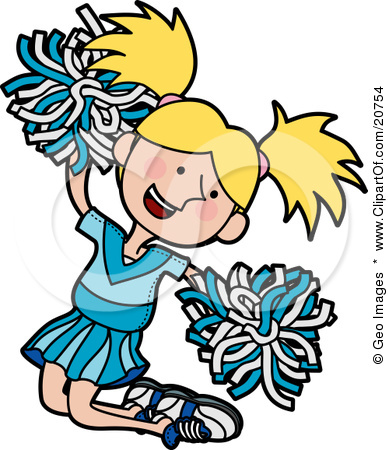 388x450 Animated Cheerleader Clipart