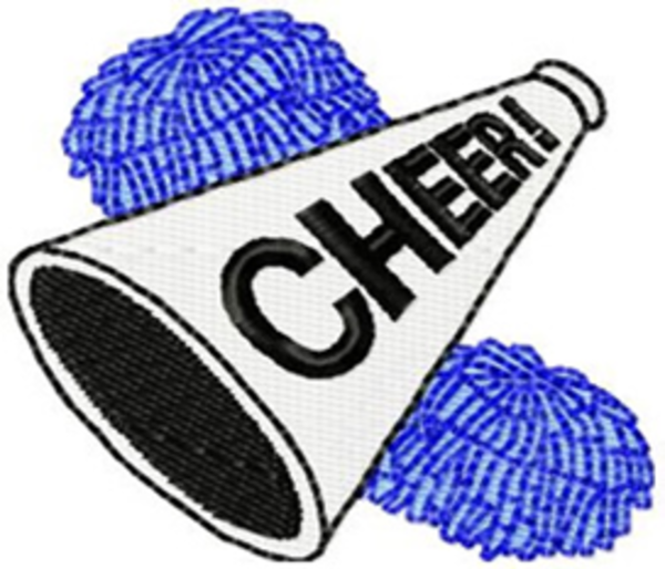 600x514 Cheerleading Cheer Megaphone Clipart