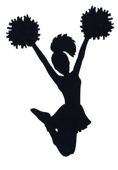 414x593 Silhouette Clipart Cheer