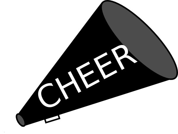 600x451 Cheer Graphics Black Clipart