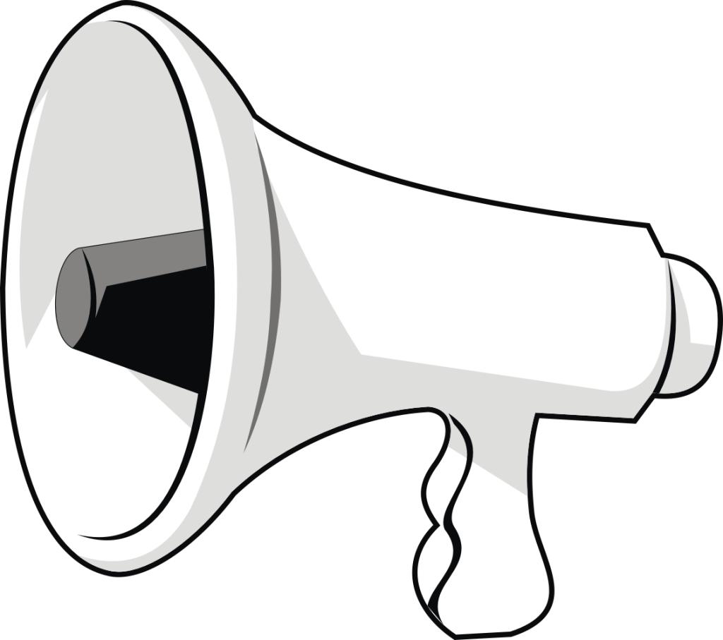 cheer megaphones clipart