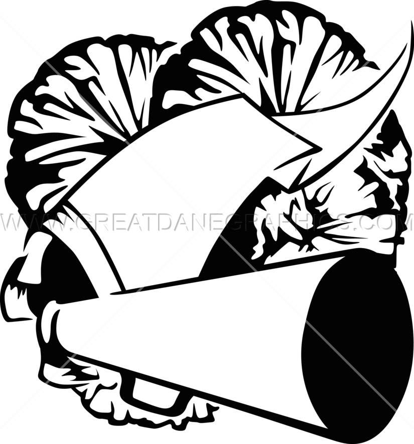 Cheerleader Clipart Black And White