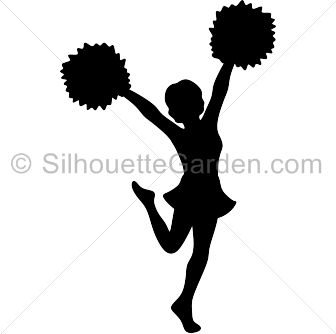 Cheerleader Clipart Black And White Free