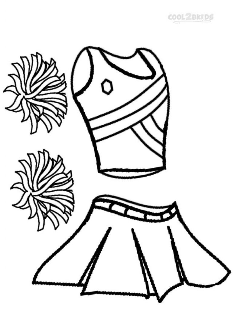 787x1024 cheerleader coloring pages