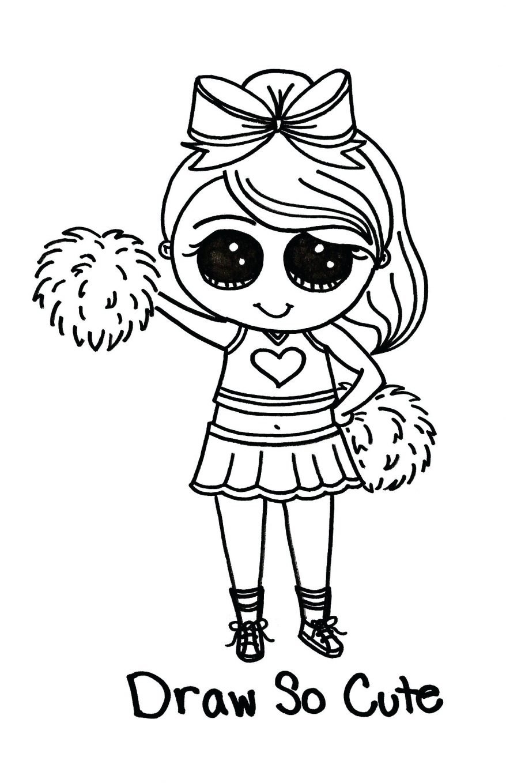 cheerleader drawing