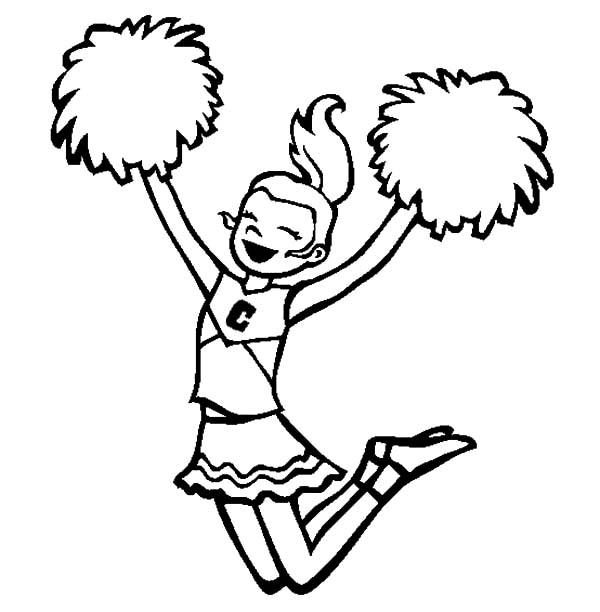 Cheerleader Drawing Free Download Best Cheerleader Drawing On