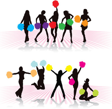 378x368 Cheerleader Silhouette Vector Free Vector Download (5,299 Free