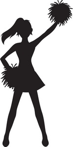 149x300 Cheerleading Clipart Graphic