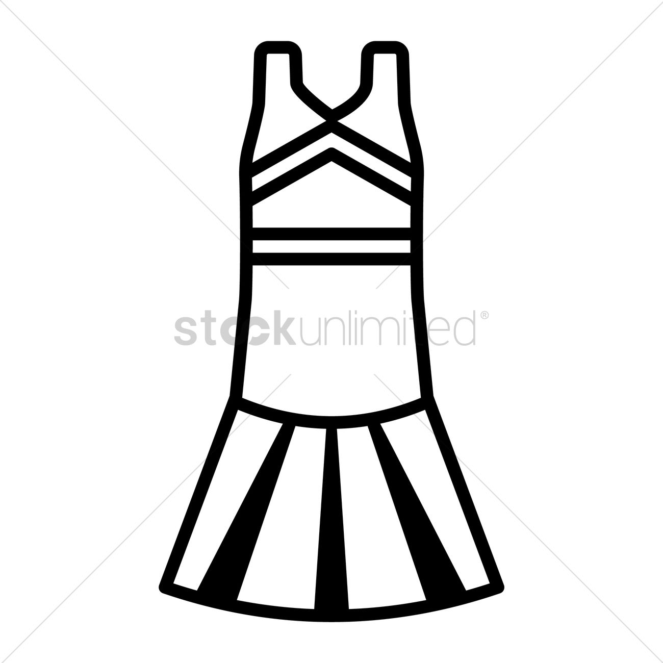 1300x1300 Cheerleading Dress Vector Image