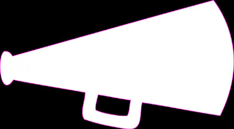 800x441 Cheerleading Megaphone Clipart