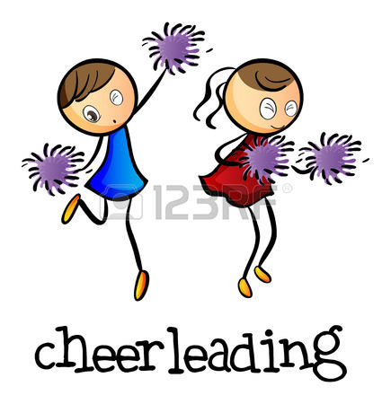 435x450 2,674 Cheerleader Stock Vector Illustration And Royalty Free