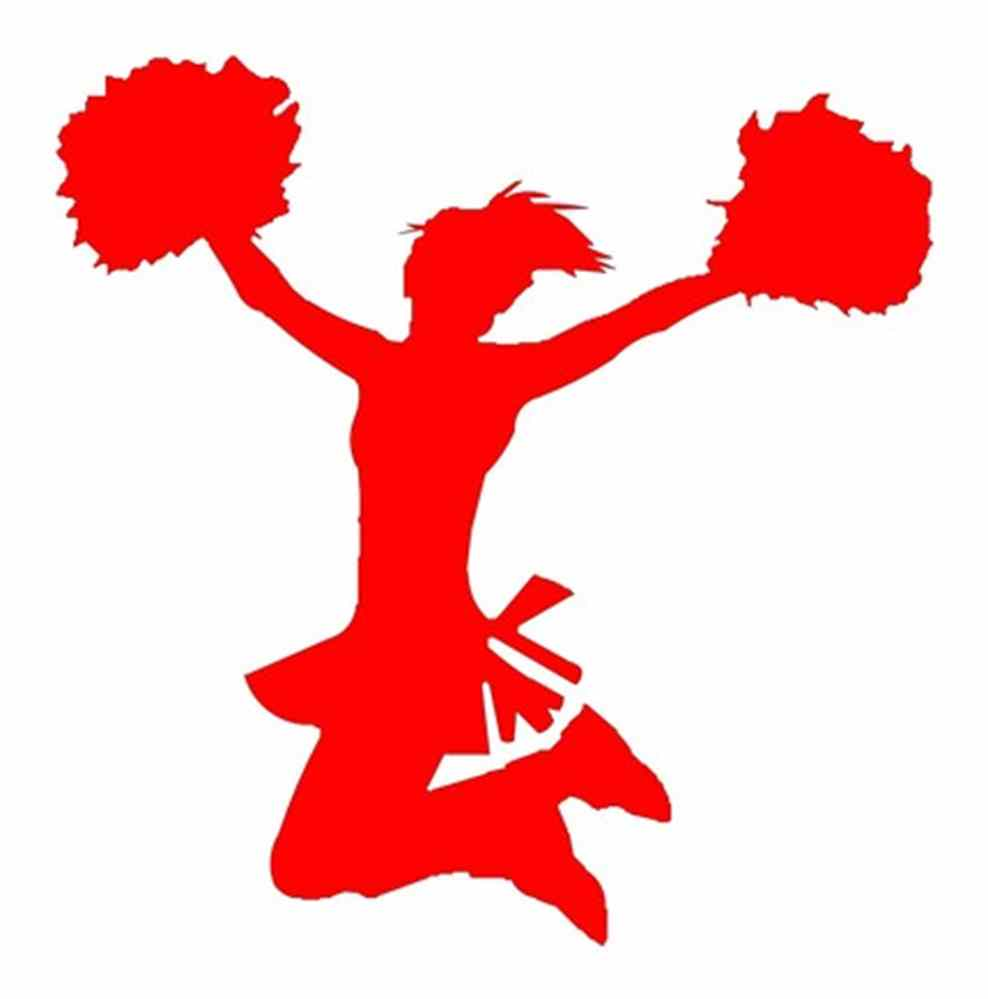 988x999 Cheerleader Cutom Personalized Car Decal With Your Name