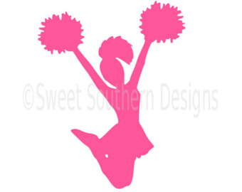 Cheerleader pink. Silhouette clipart free download