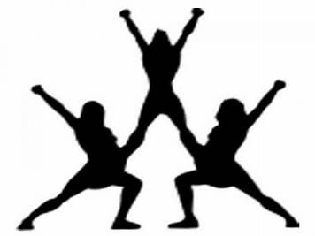 Cheerleader Silhouette Images Clipart