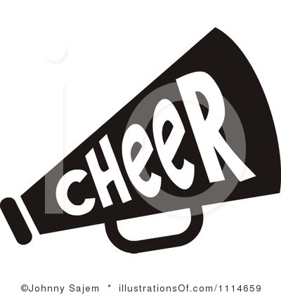 400x420 Cheer Megaphone Clipart Black And White Clipart Panda