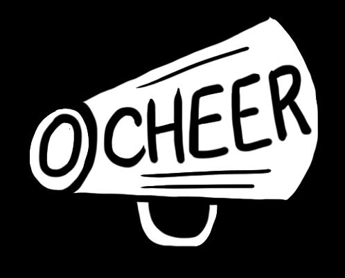498x402 Cheerleader Megaphone Cliparts 188654