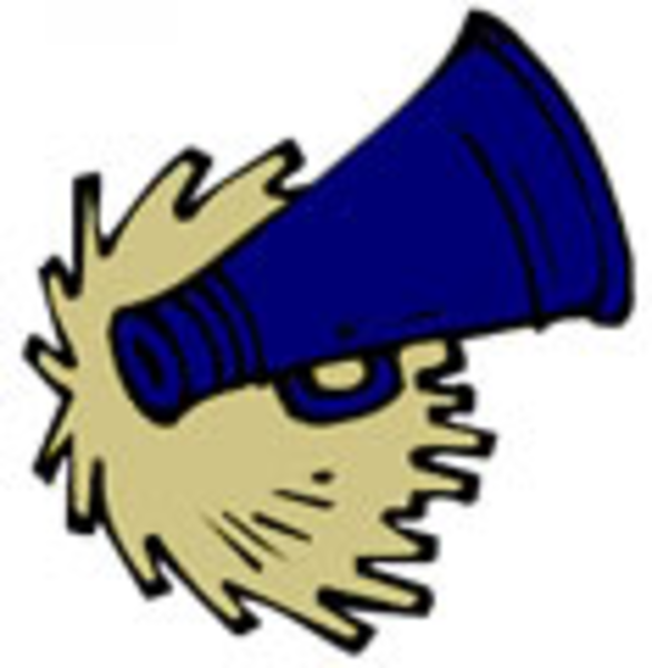 585x600 Green Cheer Megaphone Clipart Free Images