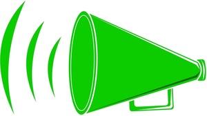 300x168 Green Clipart Megaphone