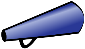 299x174 Navy Blue Cheerleader Megaphone Clipart Cliparthut