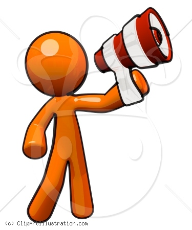 375x450 With Megaphone Clipart