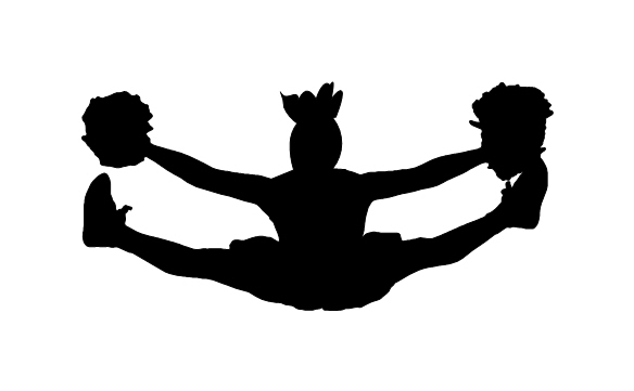 cheerleading silhouette clipart free download best cheerleading