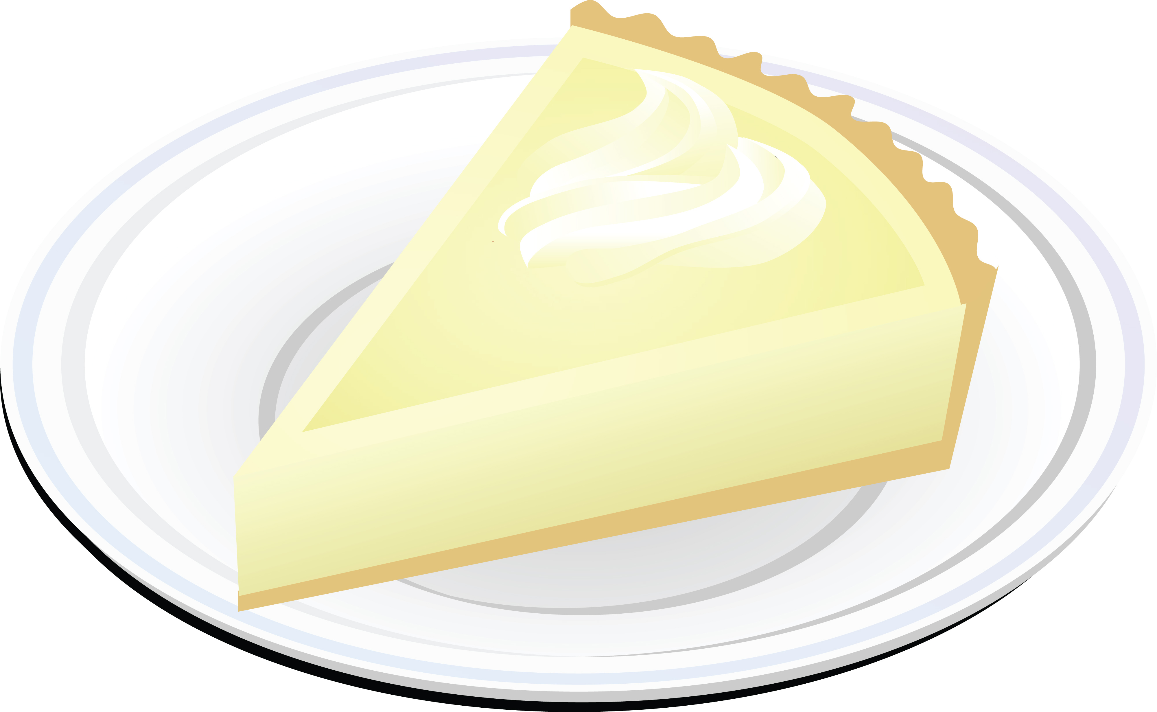 4000x2461 Clipart Of A Slice Of Cheesecake