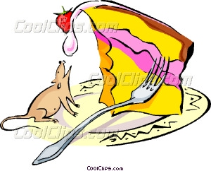 300x242 Cheesecake And Mouse Vector Clip Art