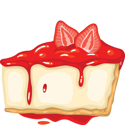 500x500 Cheesecake Clipart Baked