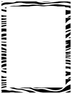 236x305 Cheetah Print Border Page Borders Cheetah Print