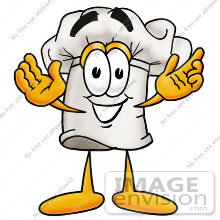 450x450 Clip Art Graphic Of A White Chefs Hat Cartoon Character