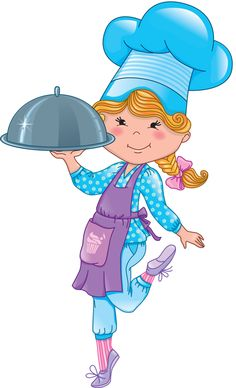 236x388 Free Cartoon Girl Chef Cook Vector Illustration Illustration