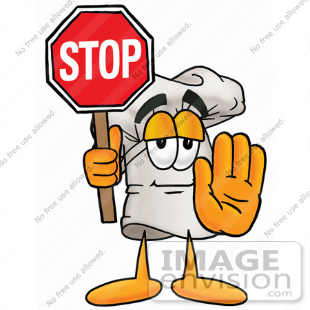 450x450 Cliprt Graphic Of White Chefs Hat Cartoon Character Holding