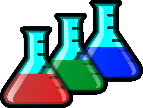 600x454 Colored Beakers Clip Art