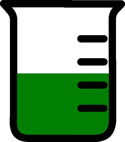 528x598 Green Beaker Clip Art