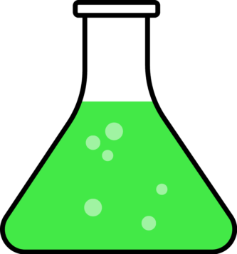 333x358 Green Clipart Beaker