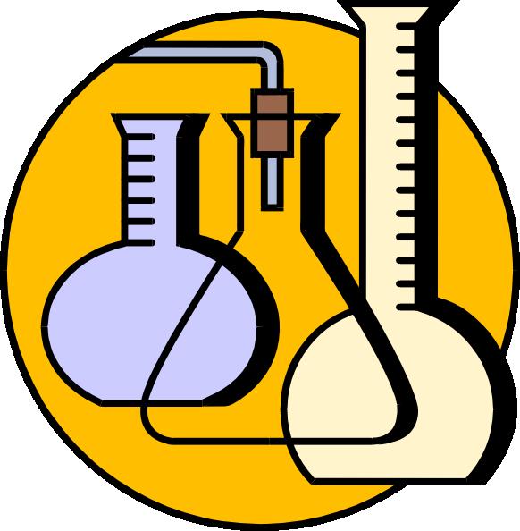 582x594 Chemical Lab Flasks Clip Art