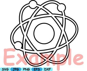 350x284 Outline School Clip Art Crazy Math Atom Scientist Chemistry Lab 105s
